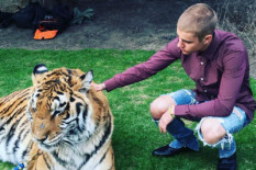 Justin Bieber with tiger | Pic: Instagram