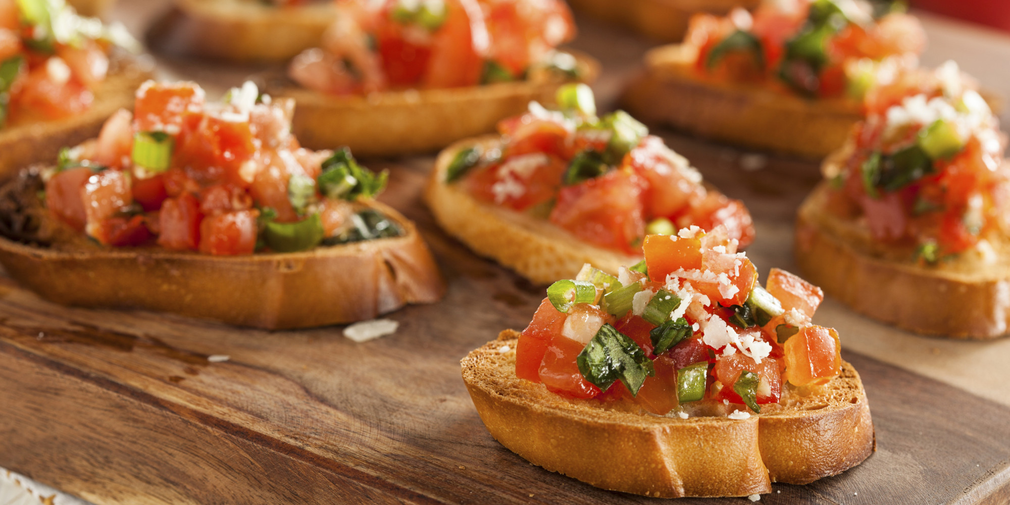 bruschetta recipe italian tomato bruschetta huffpost. Black Bedroom Furniture Sets. Home Design Ideas