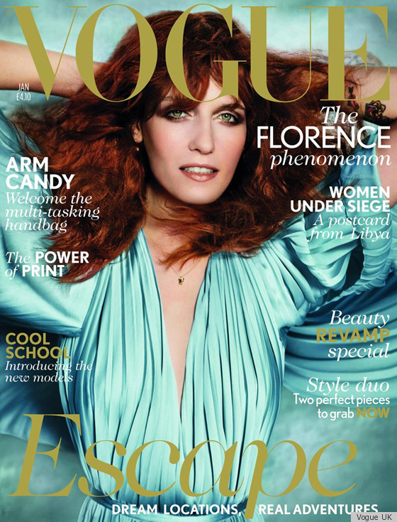 Florence Welch Covers Vogue UK January 2012 (PHOTOS) | HuffPost Life