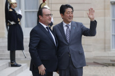 François Hollande et Shinzo Abe