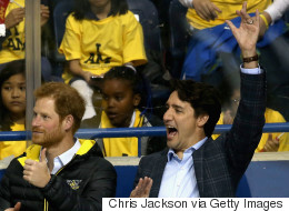 Trudeau Shows Prince Harry How Canadians Behave In A Hockey Rink