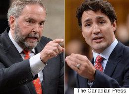 Trudeau Says Mulcair Shares Blame For Liberals' Kyoto Failures