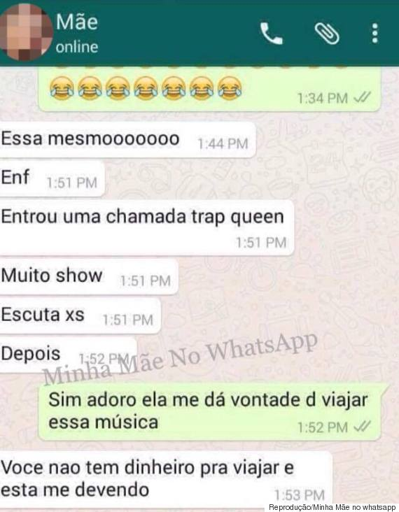 conversa mãe whatsapp