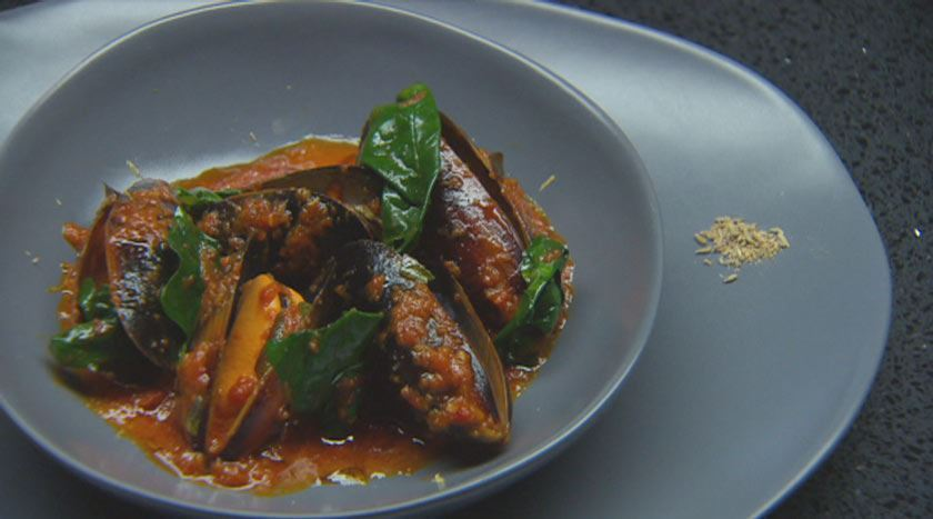 indian style mussels
