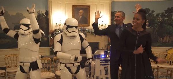 Barack et Michelle Obama dansent avec des Stormtroopers très funky