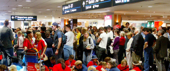 AIRPORT PEOPLE WAITING SYDNEY