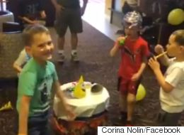 ► 5-Year-Old Fort Mac Evacuee Stunned By Surprise Birthday Party