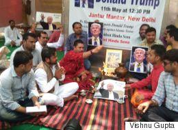 Hindu Outfit Prays For Donald Trump At Jantar Mantar, Hopes  He Will Go To War With Pakistan