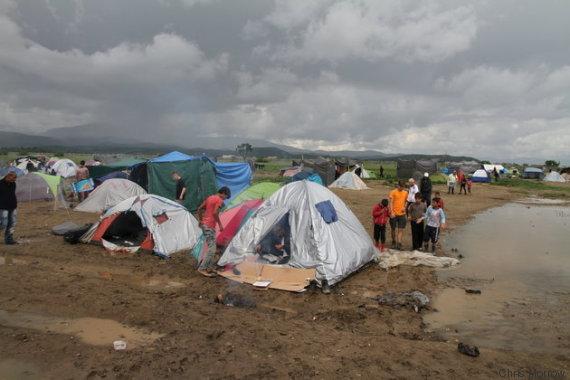 campo refugiados idomeni