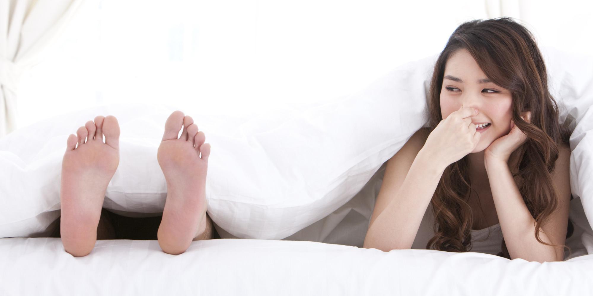 Teen feet smell