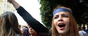 WOMAN PROTEST MAROCCO