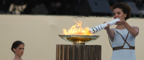 OLYMPIC FLAME ATHENS