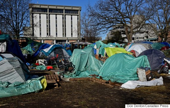 victoria court house tent city