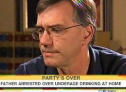 Dad Arrested For Underage Drinking