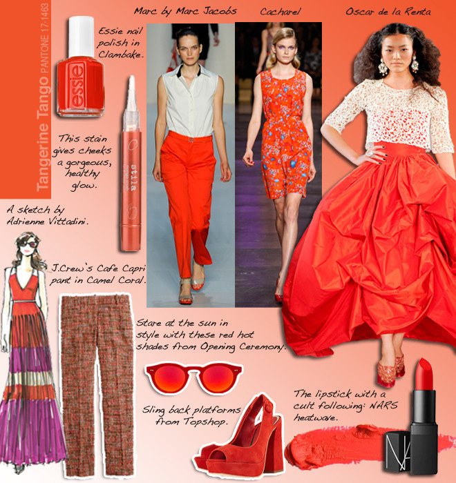 Pantone Tangerine Tango And The Fashion And Beauty Trends ...