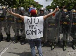 Incidentes durante la marcha opositora en Venezuela
