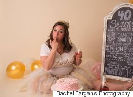 Mom Has Her Own Cake Smash Photo Shoot And It's Epic