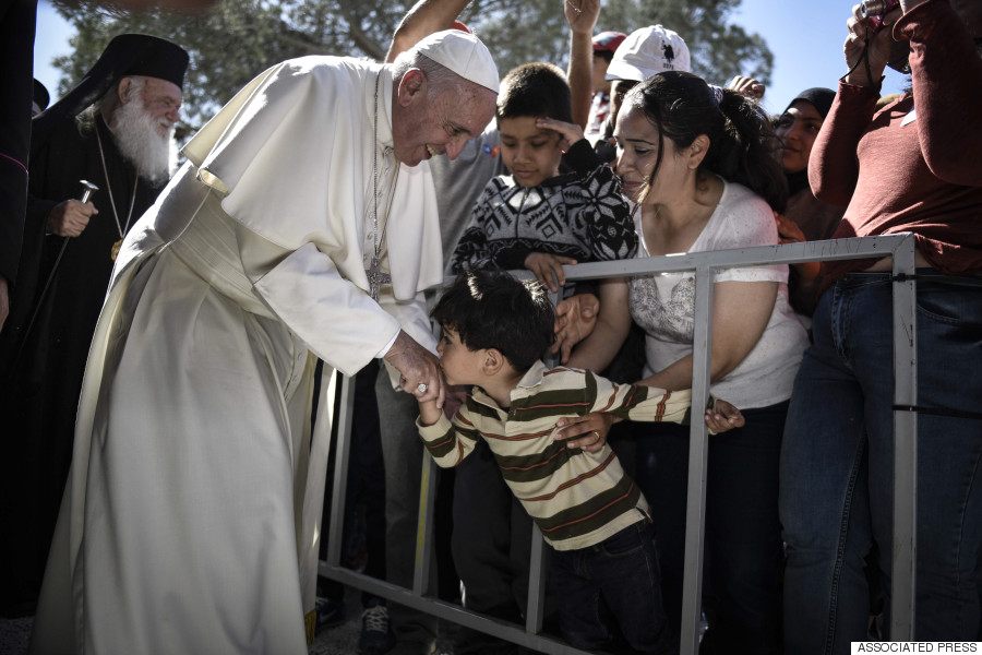 pope francis lesbos