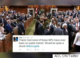 Twitter To MPs: Think #Elbowgate Is A Big Deal? Try Public Transit