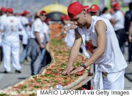 Le record de la plus longue pizza au monde rallongé