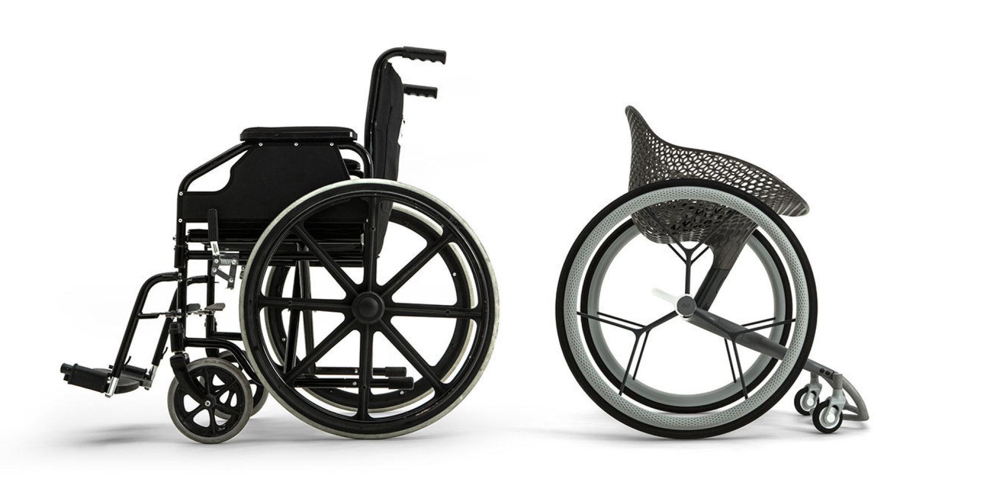 photos ce fauteuil roulant sur mesure est imprim en 3d. Black Bedroom Furniture Sets. Home Design Ideas