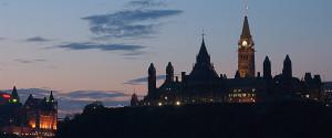 Parliament Tower Ottawa Sunset
