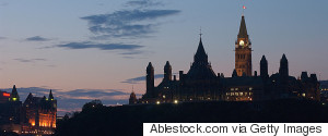 PARLIAMENT TOWER OTTAWA SUNSET
