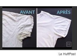 Une astuce simple pour enlever les traces jaunes de sueur sur vos vêtements (VIDÉO)