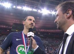 L'interview (gênante) de Zlatan Ibrahimovic après le match