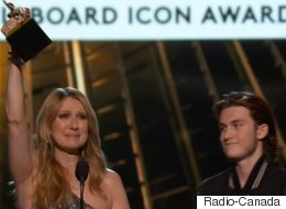 Céline Dion émue de recevoir le prix ICON des mains de son fils (VIDÉO)