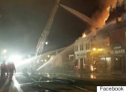 Incendie majeur au centre-ville de Louiseville