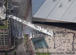 Pourquoi cet escalier géant en plein cœur de Rotterdam?