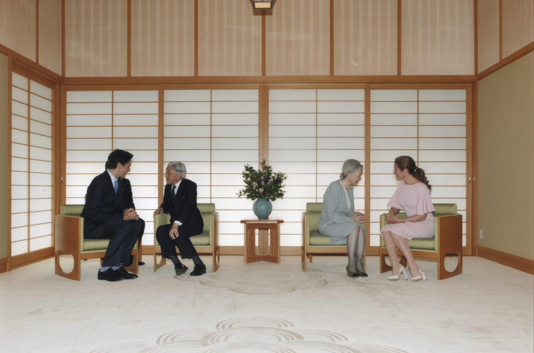 trudeau japan