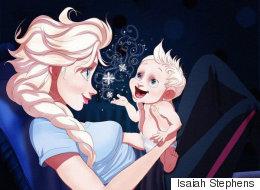 Les princesses Disney vivent leur maternité grâce à cette artiste (PHOTOS)