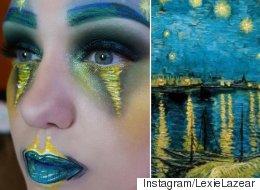 Elle recrée des toiles connues avec du maquillage