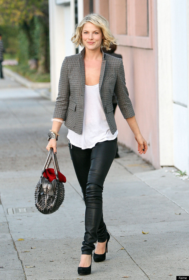 Ali Larter's Skin-Tight Leather Pants: Look Of The Day | The ...