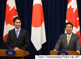 Japan PM Puts Heat On Trudeau Over TPP, South China Sea