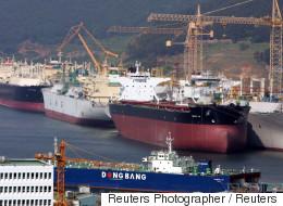 중국이 조선업 구조조정을 서두를 동안 한국은 '빅4' 중 하나가 법정관리에 들어간다