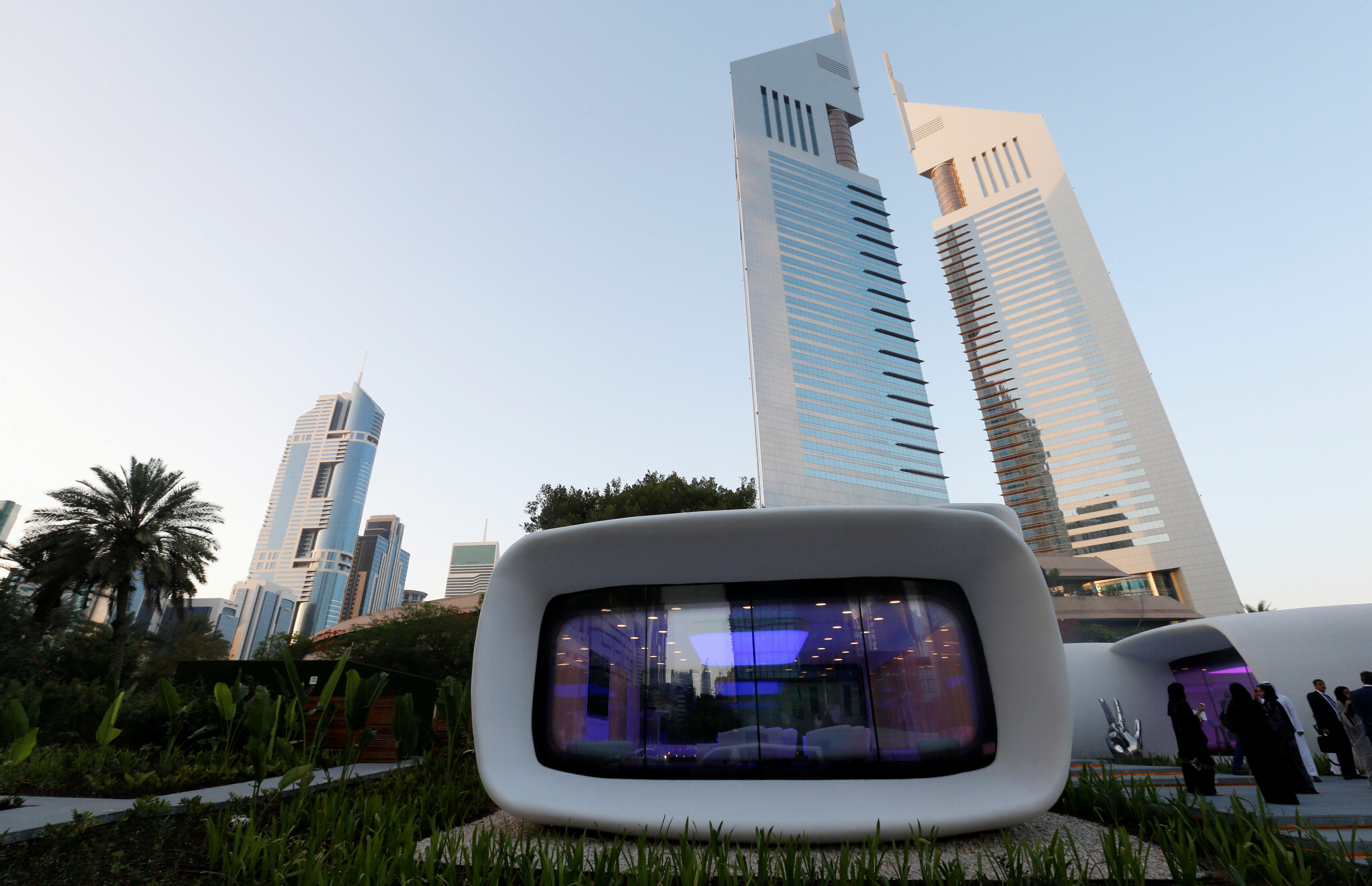 Pictures world 39 s first 3d printed building in dubai for Total cost to build a house