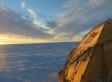 El Trineo de Viento cruza lagos en el desierto de hielo de Groenlandia