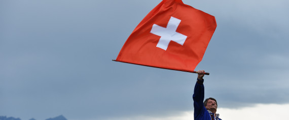 SWITZERLAND FLAG PEOPLE