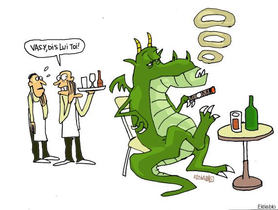 dragon fumeur
