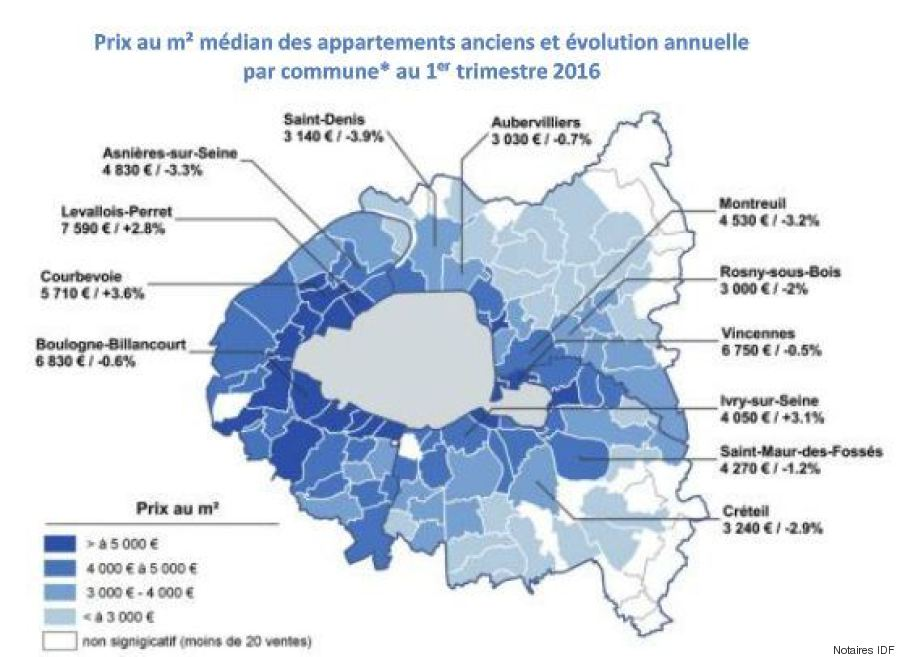 Cartes prix de l 39 immobilier paris les arrondissements for Achat appartement atypique ile de france