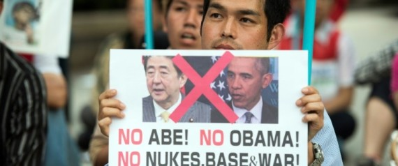 MANIFESTATION CONTRE LA VENUE DE OBAMA ET ABE