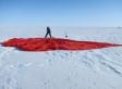 Ventisca a bordo de un trineo en el corazón de Groenlandia