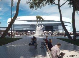 Voici à quoi ressemblera la place Jean-Béliveau (et son imposante oeuvre d'art) (VIDÉO)