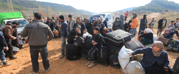 SYRIANS NEAR THE TURKISH BORDER