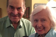 Dr Heimlich poses with Patty Ris, whom he saved from choking