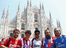 Las FOTAZAS de las aficiones inundando Milán