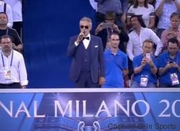 Andrea Bocelli chante l'hymne de la LDC (et impressionne les internautes)